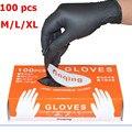 LESHP 100 шт./лот механические перчатки нитриловые перчатки бытовые чистящие моющие черные лабораторные антистатические перчатки для дизайна ...