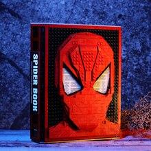 Figuras de acción de héroes de bloques de construcción, nuevo libro de colección MOC Spider Iron, bloques DIY para niños, juguetes para niños, regalo para niños