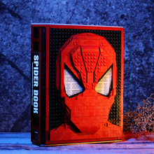 New MOC Spider Iron Collection Book Building Blocks Heroes Action Figure DIY Bricks For Kids Toys Child Boys Gift