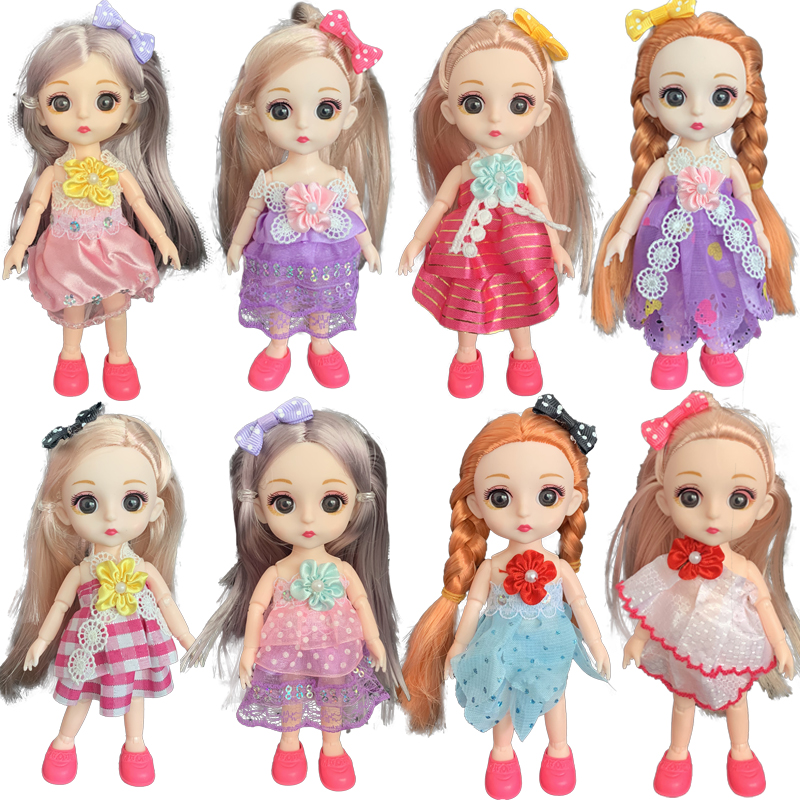 16cm 6 Inch 1/12 13 Moveable Jointed Dolls BJD Baby Doll Fashion Clothes And Shoes Dress Up Doll Toys For Children Girls Gift