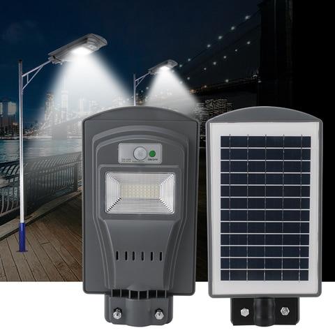 super brilhante 40 conduziu a luz solar rua luz solar sensor de movimento pir a