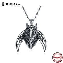 Ожерелье gomaya из нержавеющей стали для мужчин классическое