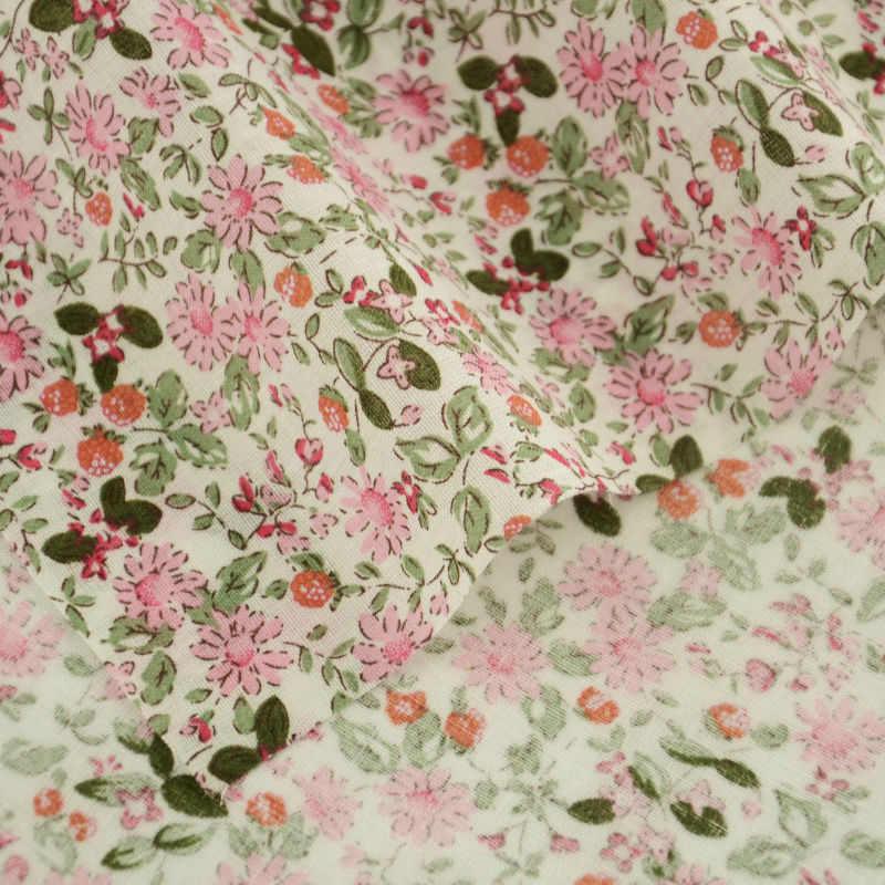 서적 패치 워크 바느질 천 100% 코튼 원단 염료 Quliting 라이트 핑크와 잎 디자인 일반 지방 분기 tissu tecido