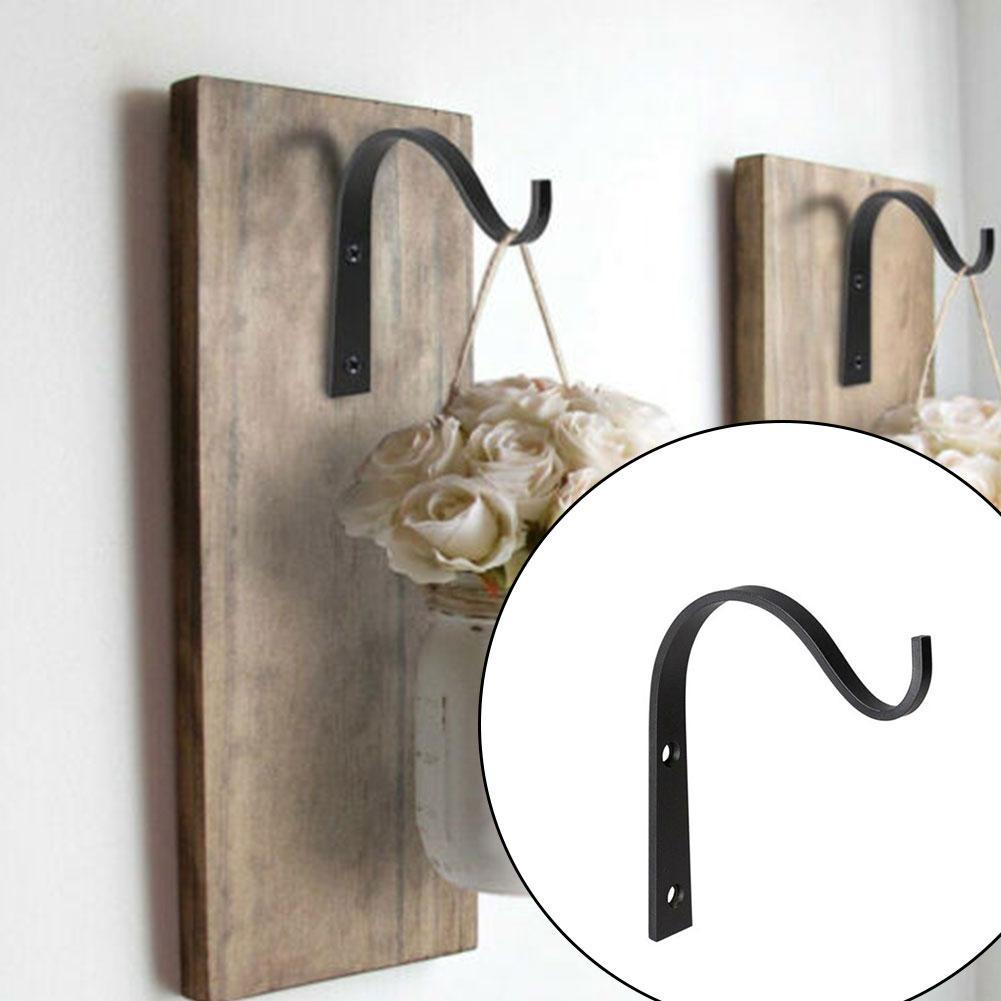 2Pieces Metal Wall Hooks J-hook Storage Hook Vintage Wall Hanger Screw Hooks For Room Cloth Towel Rack Coat Hat Holder Wall Hook