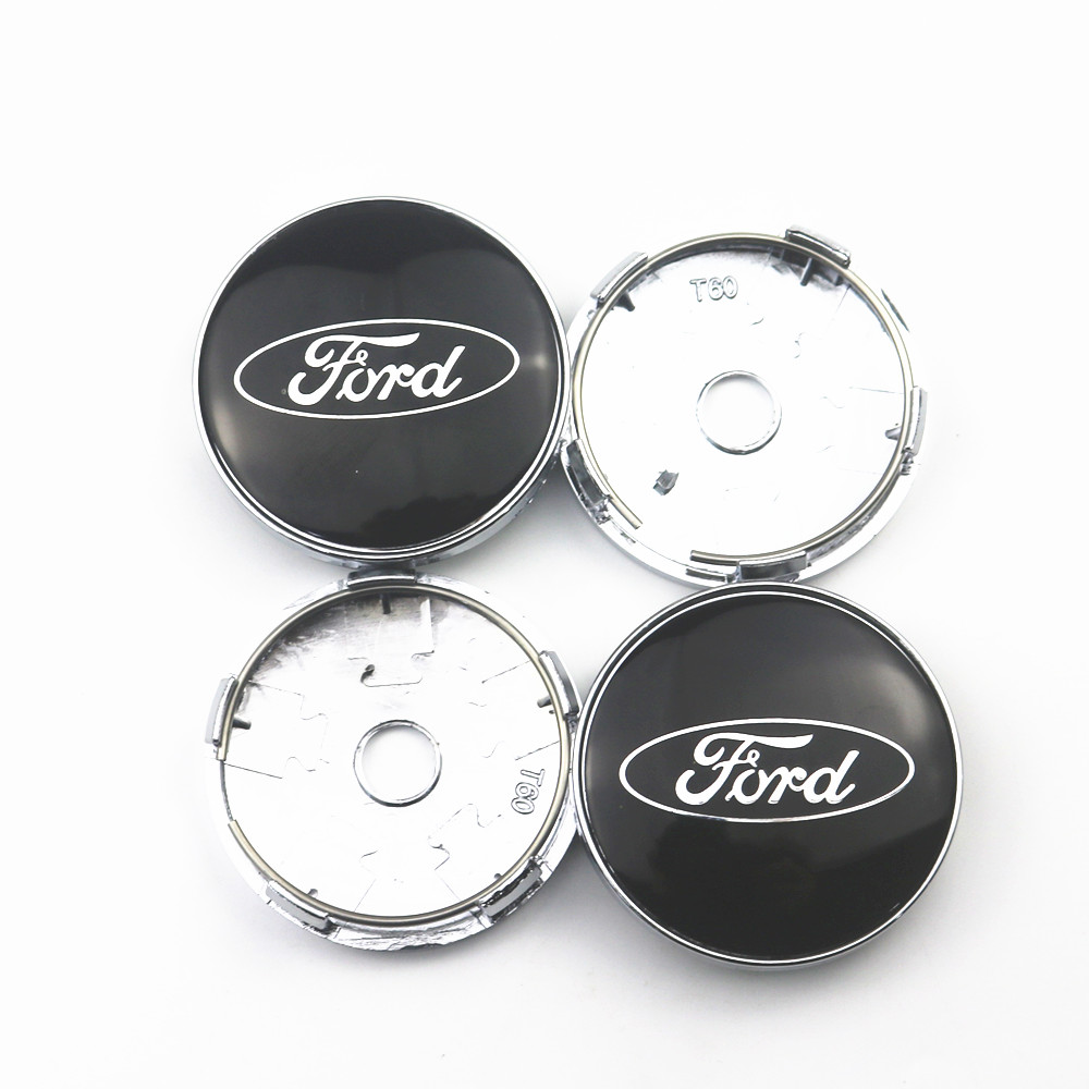 4pcs 60mm Wheel Center Hub Caps Car Emblem Badge Logo Wheel Center Cap For Ford Fiesta EcoSport ESCORT Focus 1 Focus 3 Focus 2