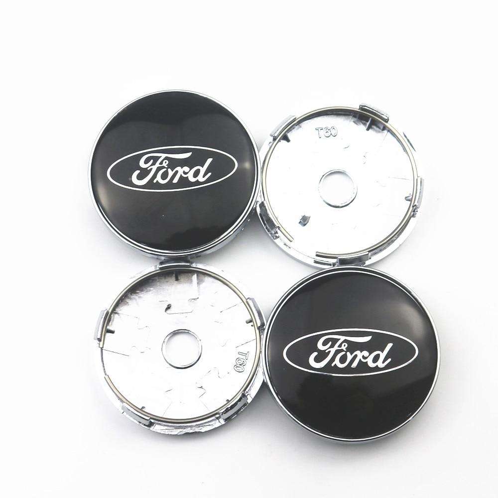 4pcs 60mm Wheel Center Hub Caps Car Emblem Badge Logo Wheel Center Cap For Ford Fiesta EcoSport ESCORT Focus 1 Focus 3 Focus 2