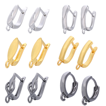 DIY Earring Clasps Hooks Fittings for Jewelry Making Accessories Hook Earwire 1 pair tassel earrings materials Fashion jewelry 1 pair women tassel earrings connector linkers jewelry accessories for african bridal wedding hanging dangle earrings making