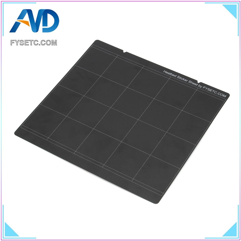 1pc Prusa I3 MK3 MK52 Sheet Heat Bed Platform 3D Printer Buildplate Black Sticker Sheet For Prusa I3 Mk3 Mk2.5 Heat Bed