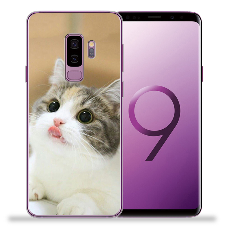 Cat Animal TPU Soft Silicone Phone Case For Samsung Galaxy S9 S8 S10 Plus S7 S6 Edge S10 Lite Note9 8