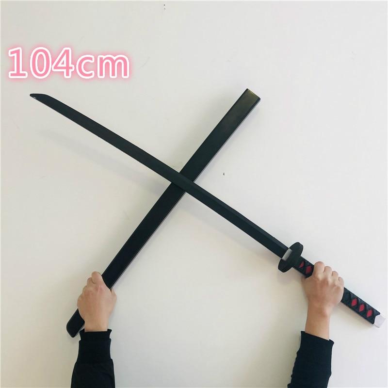 104cm Deadpool Sword Gun Kimetsu No Yaiba Sword One Piece Roronoa Zoro Anime Cosplay Armed Katana Ninja Sword Samurai Prop Toys