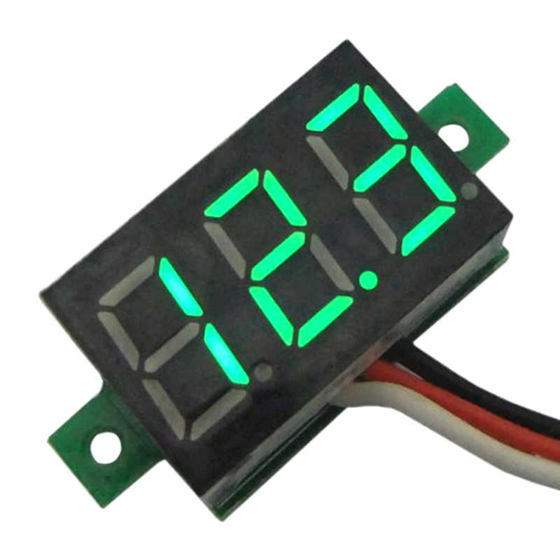0.28 inch Digital  0-30V Voltage Meter LED Voltmeter 12V Auto Car Mobile Power Motorcycle Tester Detector Red Green Blue Yellow