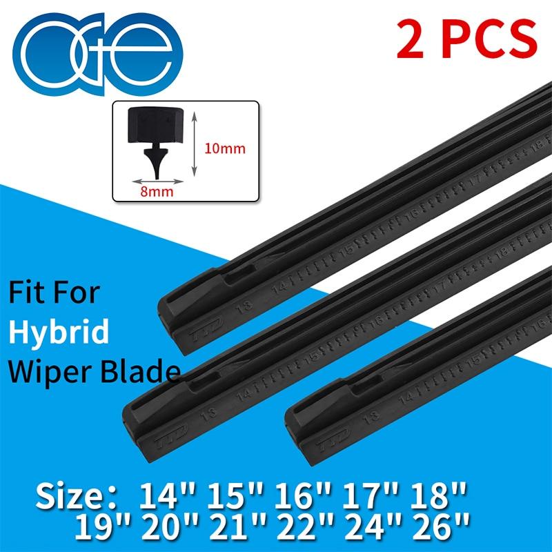 OGE 2 pièces insertion de voiture bande de caoutchouc lame d'essuie-glace (recharge) 8mm de 14