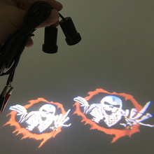 2pcs Universal Car-styling Car Door Warning Light Devil Logo Shadow Lamp 3D Interior Accessories