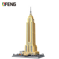 WANGE 5212 Building Blocks World Famous Architecture Series Empire State building of NewYork Funny Kits Toys for Children Gifts
