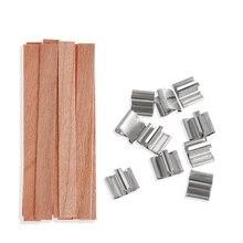 10 шт. 6 мм 8 мм 12,5 мм 13 мм деревянный фитиль для свечей с поддерживающей вкладкой фитиль для свечей поставка соевого парафина воска