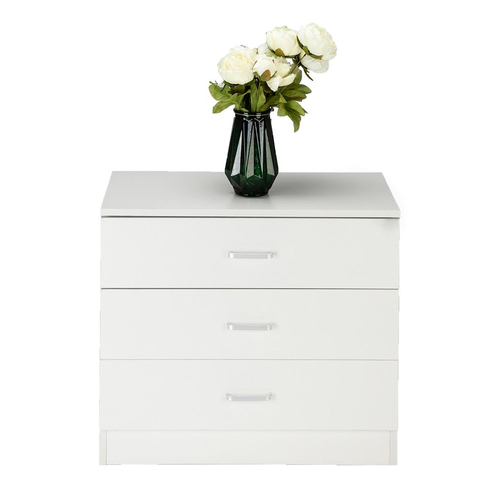 Wood Simple 3-Drawer Dresser White
