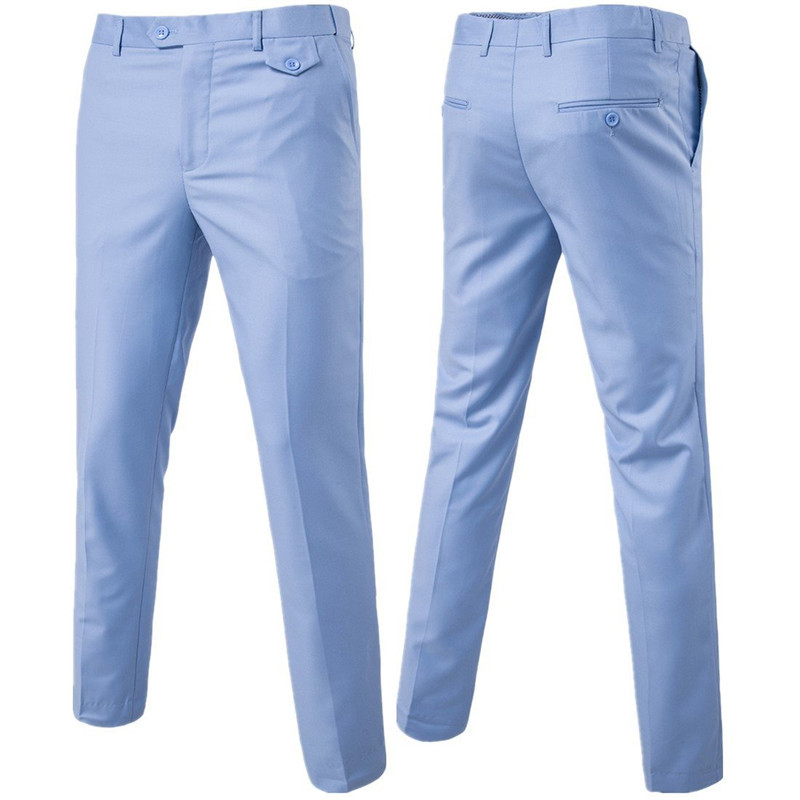 New-2018-High-quality-Men-Pure-color-Formal-Business-suit-pants-Male-leisure-wedding-bridegroom-suit__