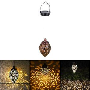 Garden-Light Powered-Lamp Olive-Shape Patio-Decoration Led-Lantern Hanging Waterproof
