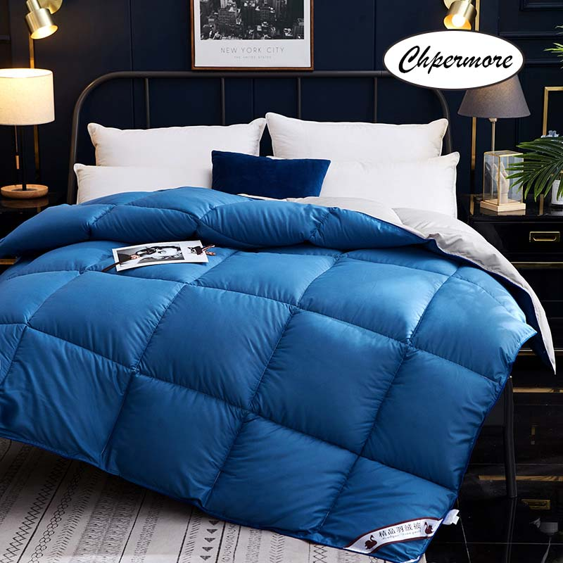 Chpermore High-grade 95 % White Goose/Duck Down Duvets Quilt Thickening Winter Comforters 100% Cotton Cover King Queen Twin Size