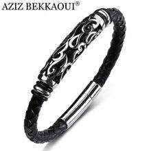 Bracelet Men Bangle Jewelry Stainless-Steel Personality Golden Black AZIZ BEKKAOUI Hoop-Stick