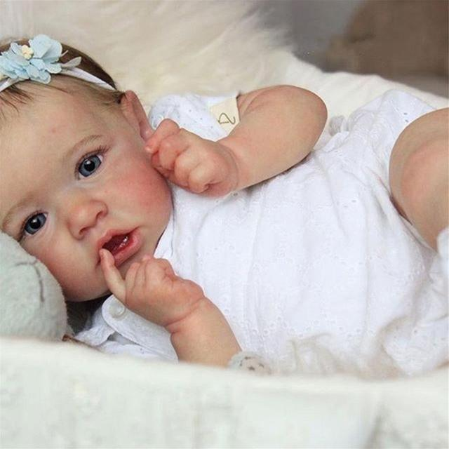 "22/"" Bebe Reborn Baby Girl Dolls Silicone Vinyl Lifelike Newborn Toys Kids Gift"