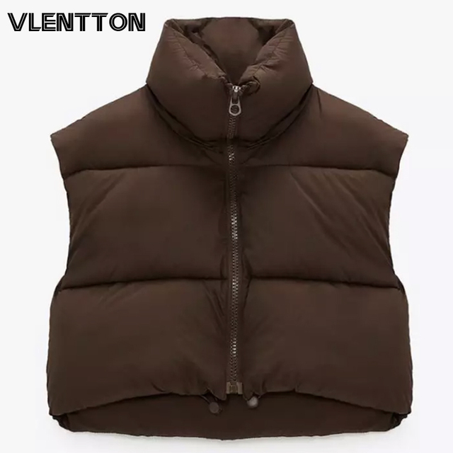 New Spring Autumn Women Warm Sleeveless Jackets Vintage Solid Zipper Cotton Coat Female Casual Short Outwear Ladies 1