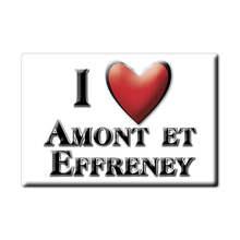 Aimant AMONT ET EFFRENEY lodestone MIDI PYRÉNÉES (70) France aimant pour réfrigérateur SOUVENIR j'aime cadeau