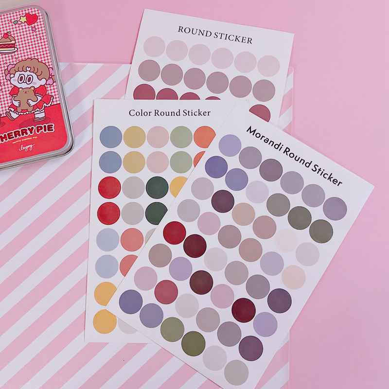 1Pc Ins Creative Cute Mini Colored Dots Stickers Phone Stickers Handbook Material Stationery Decorative Sticker