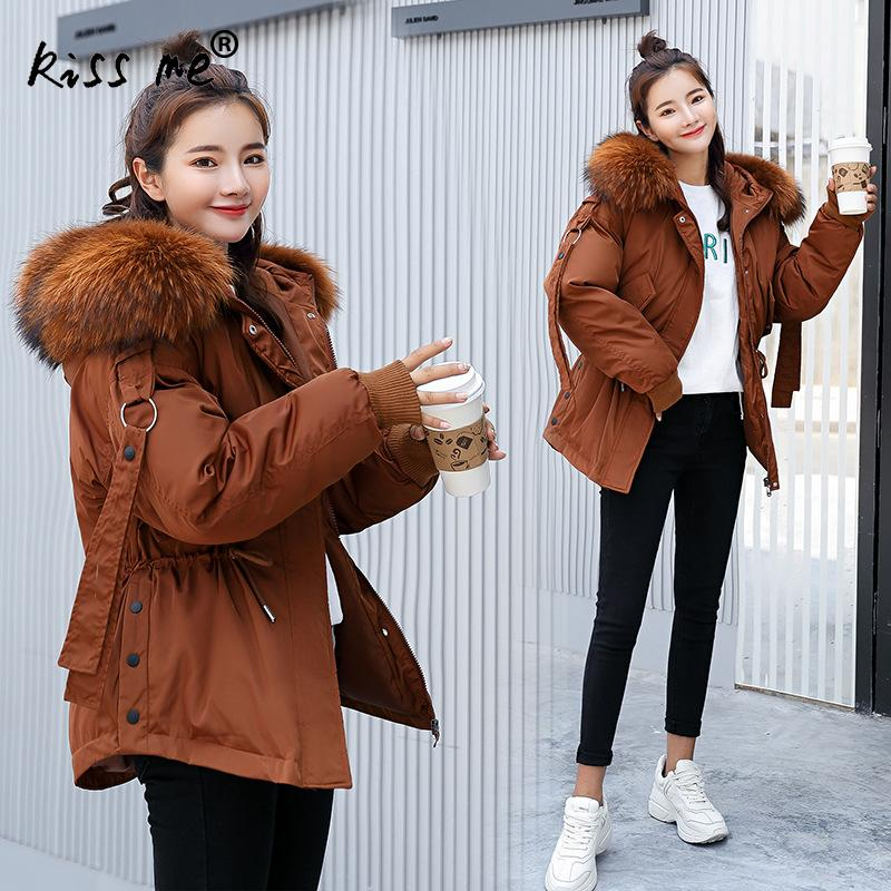 Solid Casual Outdoor Down Coat Camping Hiking Jacket Hooded Winter Thermal Warm Coat Female Loose Windproof Jacket Ladies Cloth