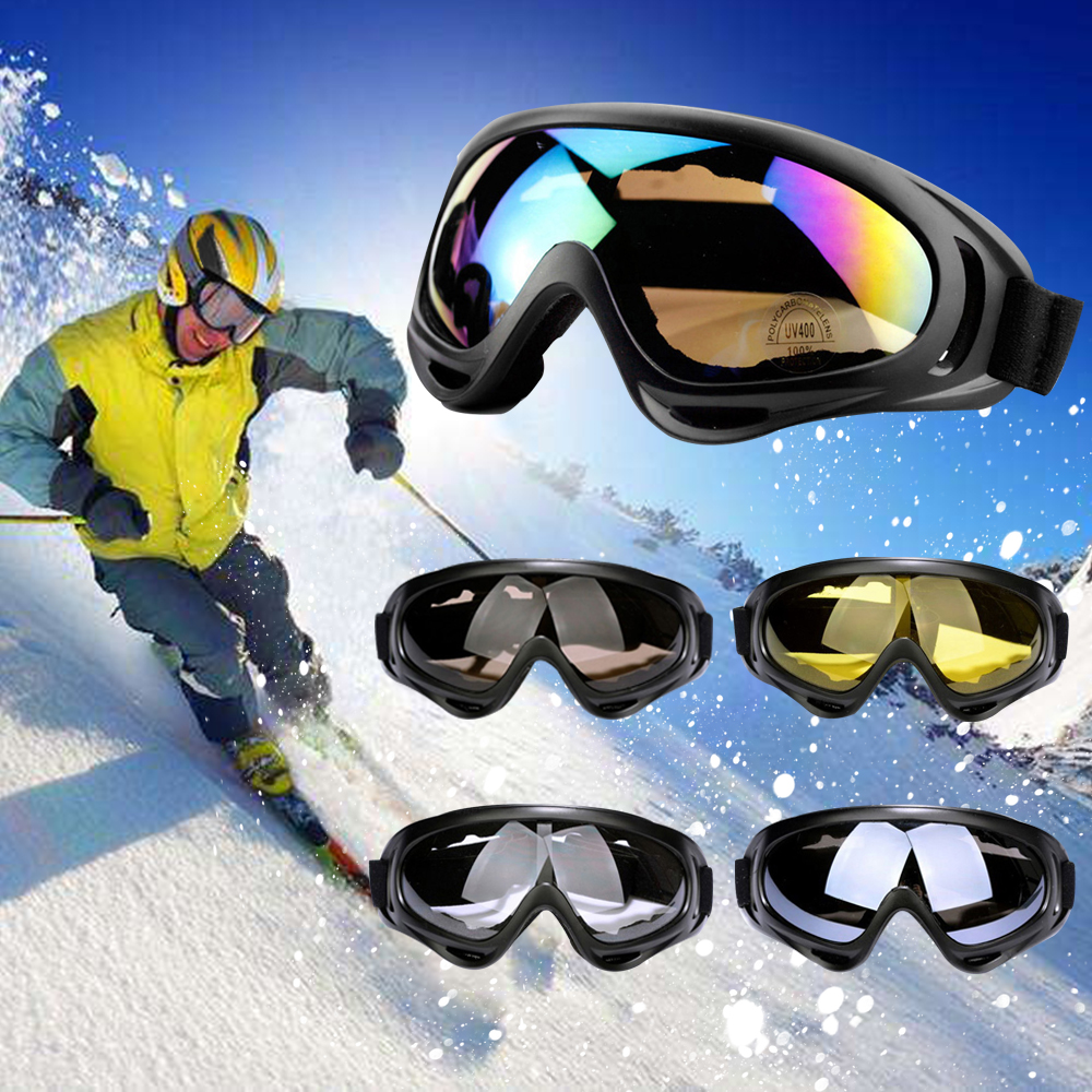 1pc Winter Windproof Skiing Glasses Goggles Outdoor Sports CS Glasses Ski Goggles Dustproof Anti-fog Moto Cycling Sunglasses D40