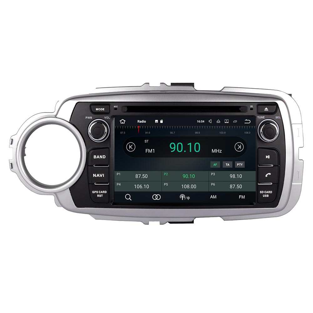 Octa Core Android 10 PX5 Fit TOYOTA YARIS left or right driving 2011 - Car DVD Player Navigation GPS Radio