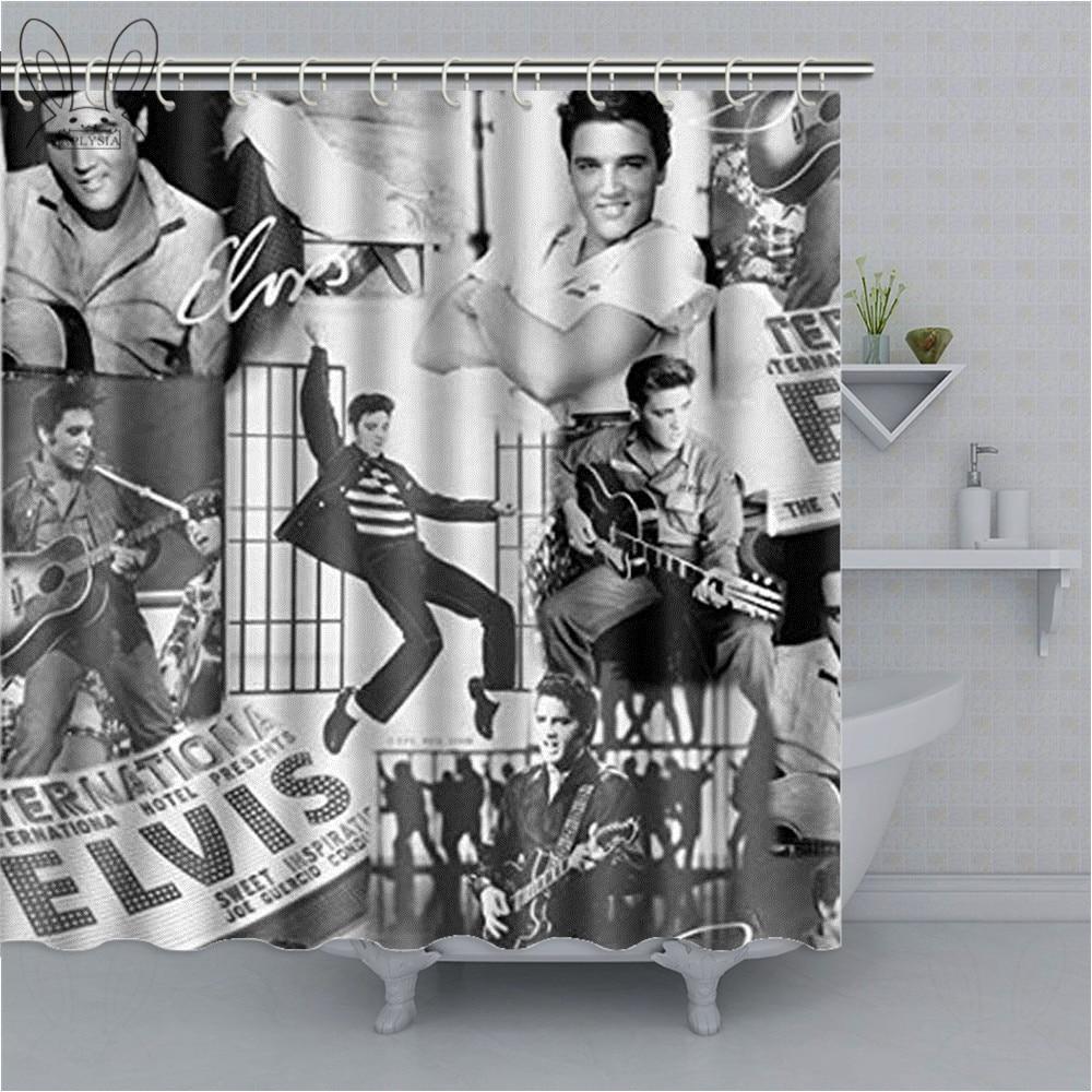 kreative elvis aron presley dusche vorhang beliebte sanger wateeproof polyester stoff bad vorhang wohnkultur dusche sets