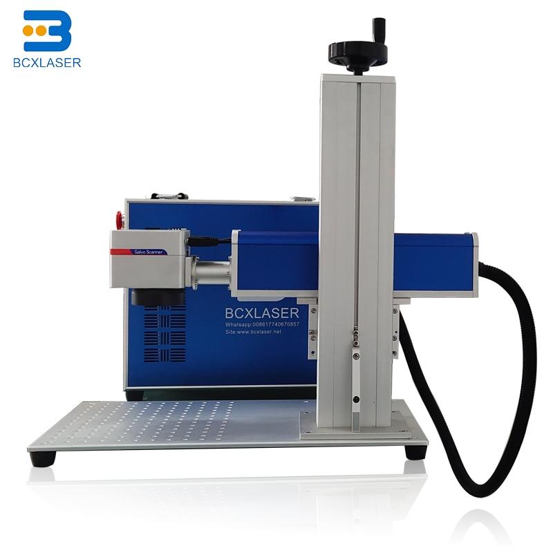 Wuhan Bcxlaser 30w Online Fly Fiber Co2 Metal Non-metal Laser Marking Machine Price For Bottle Food Rice