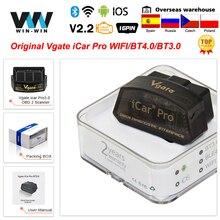 Vgate iCar برو بلوتوث 4.0 ELM327 WIFI OBD2 الماسح الضوئي لالروبوت/IOS OBD 2 OBD2 سيارة تشخيص السيارات أدوات PK الدردار 327 V 1 5