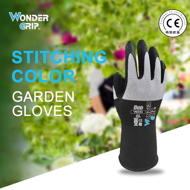 1 Pair Garden Gloves Nylon Garden Genie Rubber Gloves  Quick Easy To Dig And Plant Gant De Jardin WG555