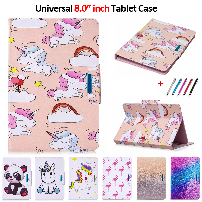 Cute Panda Unicorn Universal Case For 8.0