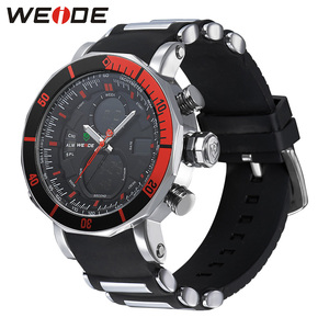 Image 4 - WEIDE Men Watch Chronograph Stopwatch Repeater Automatic Date Alarm Analog Quartz Digital Relogio Masculino Watch Mens Watches