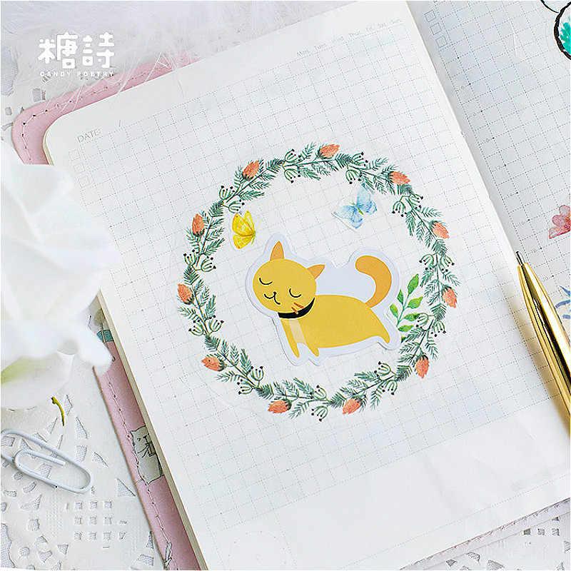 1 חתיכה Creative רבים חתולים Washi קלטת עדין נייר מתכנן מיסוך קלטת דבק קלטות מדבקות דקורטיבית מכתבים