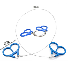 1Pc Useful Outdoor Plastic Steel Wire Saw Ring Scroll Travel Camping Emergency Survival Gear Climbing Survival Hand Tool