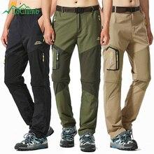 LoClimb spodnie na piesze wycieczki mężczyźni wspinaczka górska spodnie odpinane męskie spodnie trekkingowe wiosna/lato szybko schnące szorty AM002