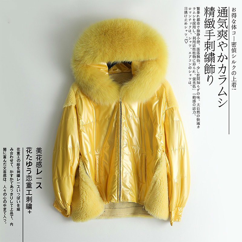 Winter Women's Down Jacket + Large Fox Fur Hooded Fashion Clothes 2020 Korean Thick Warm Wool Duck Down Coat Hiver LR2407