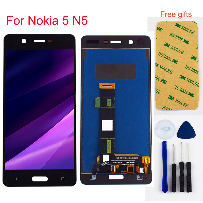 LCD Display Panel Screen Module + Touch Screen Digitizer Sensor Assembly For Nokia <font><b>5</b></font> N5 <font><b>TA</b></font>-1008 <font><b>TA</b></font>-1030 <font><b>TA</b></font>-<font><b>1053</b></font> image
