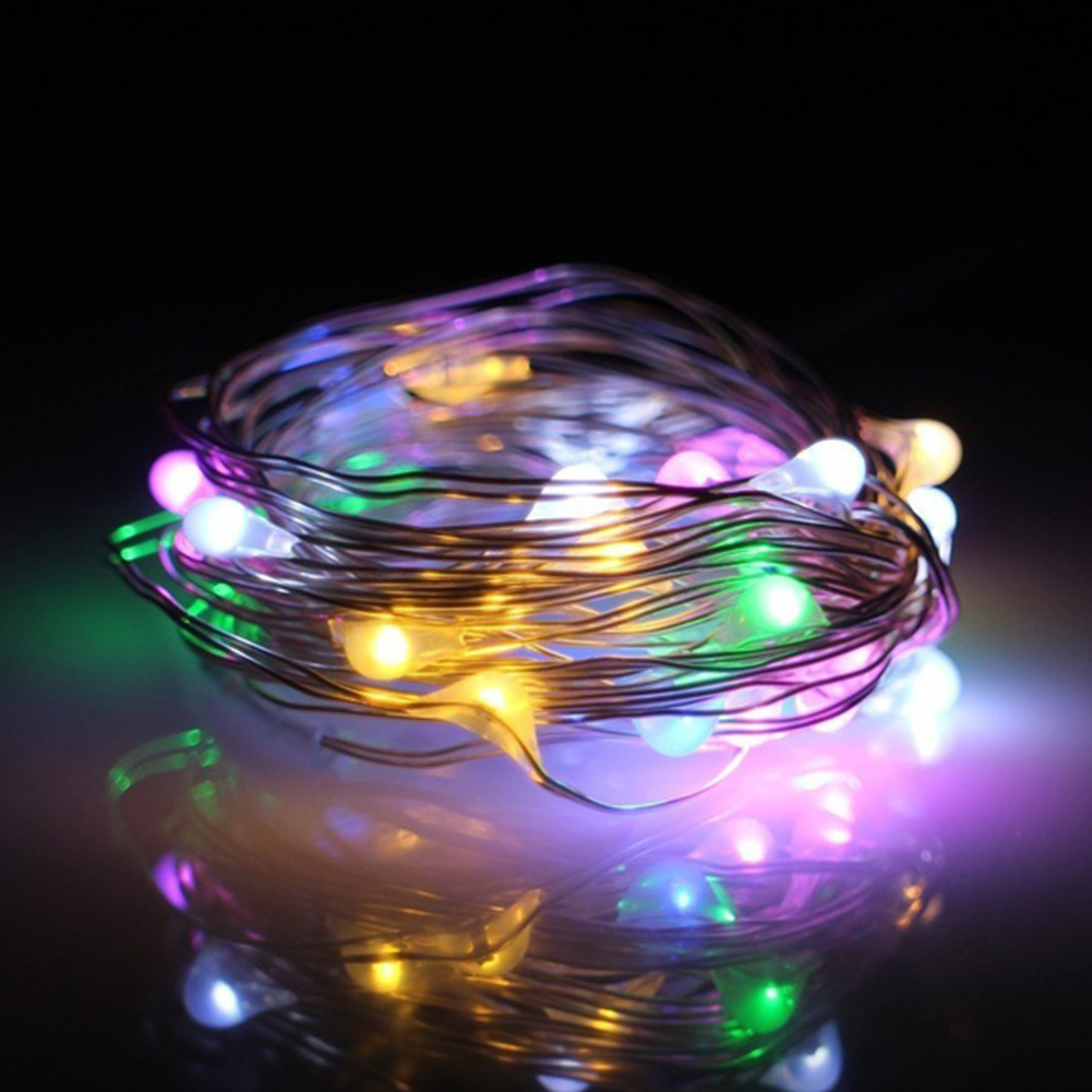 Party Decoration Copper Wire Garden Indoor Outdoor Home 20 LED Wedding Fairy Waterproof Battery Operated Light String