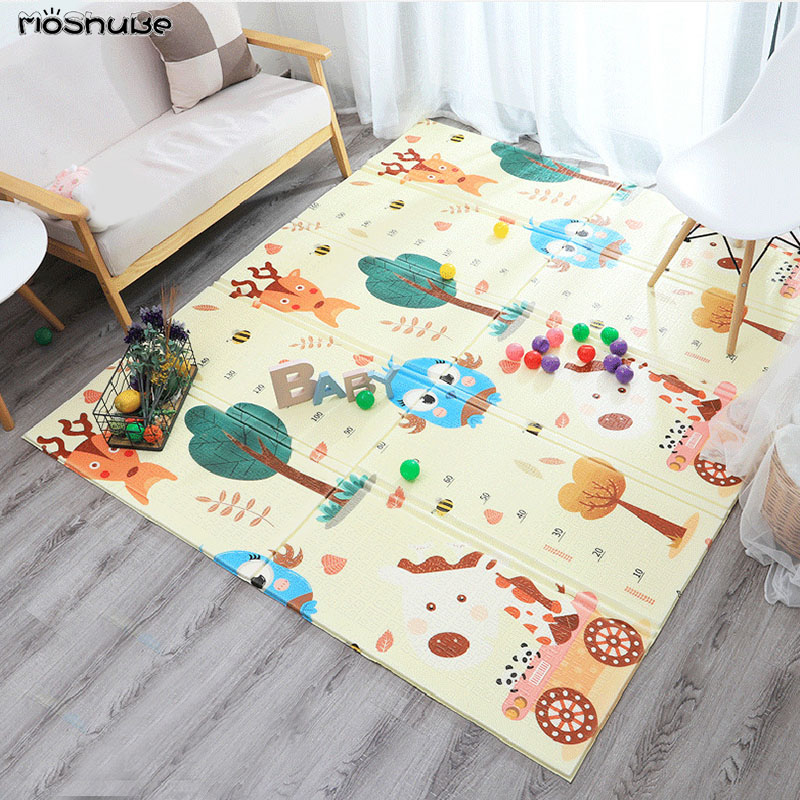 Cartoon Baby Play Mat Foldable Puzzle Pad Toys For Children's Mat Baby Climbing Kids Rug Gym Eduactional Games Mats