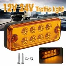 New 12V 24V LED Trailer Truck Brake Light Neon Halo Ring Tail Brake Stop Turn Light Sequential Flowing Signal Light Lamp tanie tanio Audew 10x4x1 8cm Traffic Light Inne