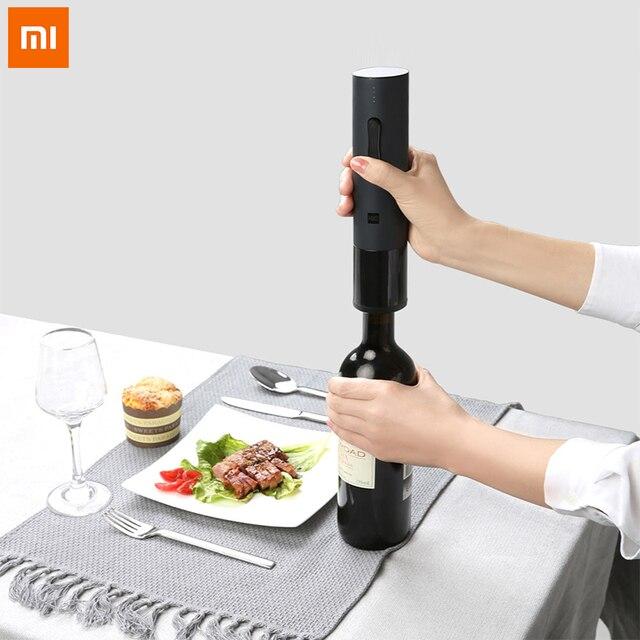 Xiao Mi Mi Mi Jia Huohou อัตโนมัติขวดไวน์แดงเปิดขวด Corkscrew เครื่องตัดฟอยล์ Cork OUT TOOL สำหรับ Xiao mi Smart Home ชุด