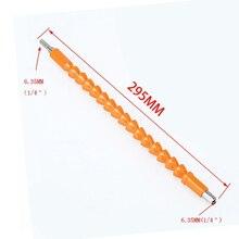 1 X Plastic+Metal Flexible Shaft Light Orange Connection Head Hex Part 6.35mm