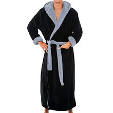 Homens roupão de banho flanela com capuz grosso casual inverno outono longo quimono robe casa quente pijamas roupão de banho pijama
