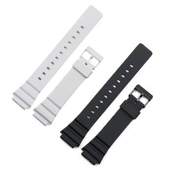 Watch Strap for Casio MRW-200H W-752 w-s210H W-800H W-735H Black Men Watchband Pin Buckle Watch band Watch accessories casio w s210h 1a