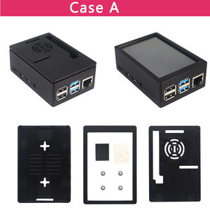 Image 4 - 3.5 inch Raspberry Pi 4 Model B Touch Screen 50FPS 5 FPS 480*320 LCD Display + Dual Use ABS Case Box Shell for Raspberry Pi 4